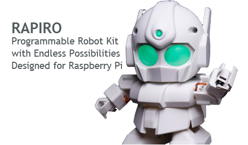 RAPIRO (Programmable Robot Kit for use with Raspberry Pi)